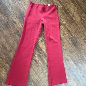 Vintage flattering red flare pant